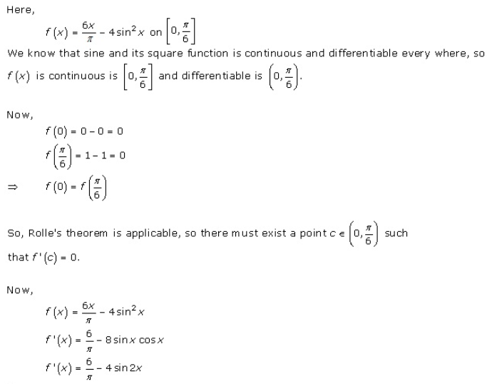 RD Sharma Class 12 Solutions Chapter 15 Mean Value Theorems Ex 15.1 Q6-xiv
