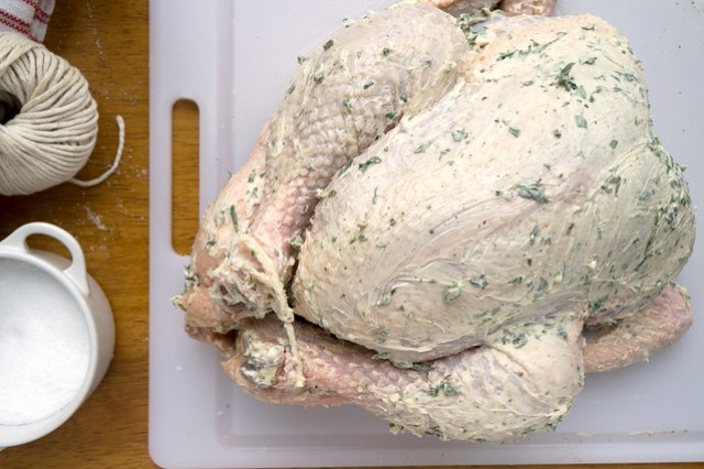 capon and herb butter