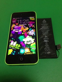 149_iPhone5Cのバッテリー交換