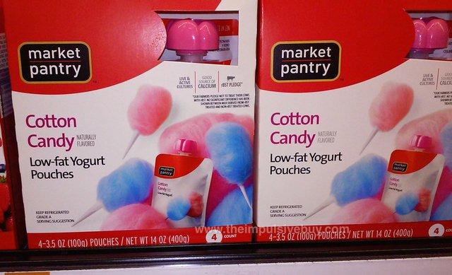 Market Pantry Cotton Candy Low-Fat Yogurt Pouches