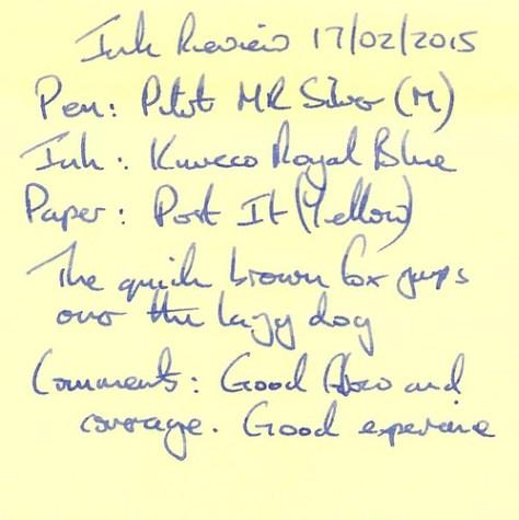 Kaweco Royal Blue Ink Review - Post It