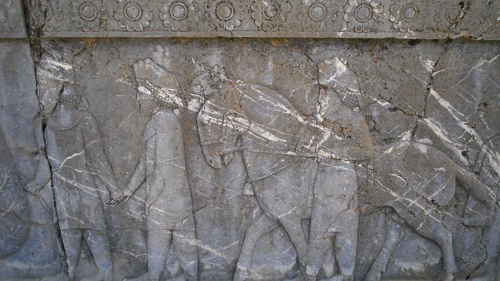Escaleras de la Apadana o Sala de Audiencias  de Darío Persépolis Irán 53