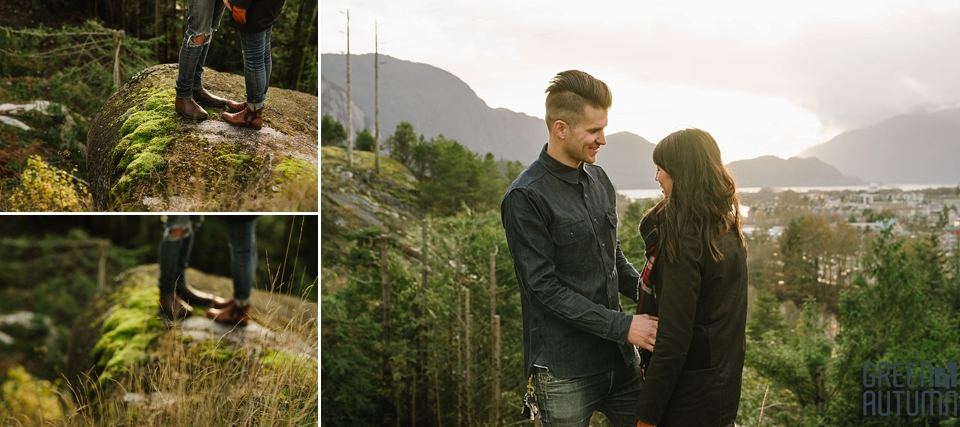 Squamish Howe Sound Indie Engagement Photography