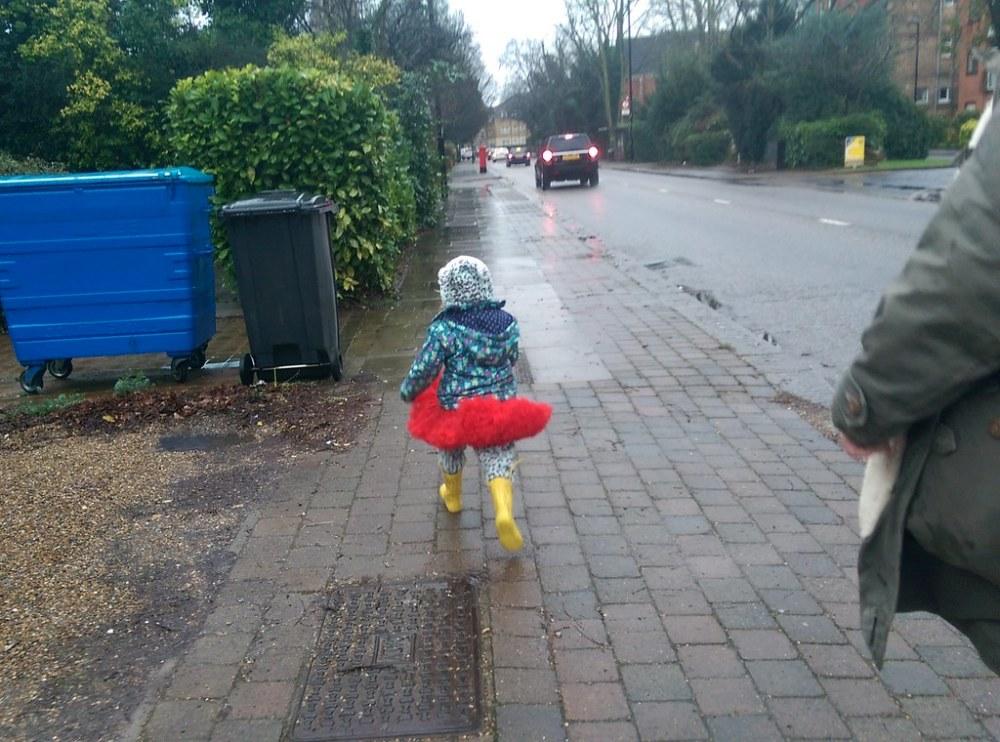 Betsy practising her running