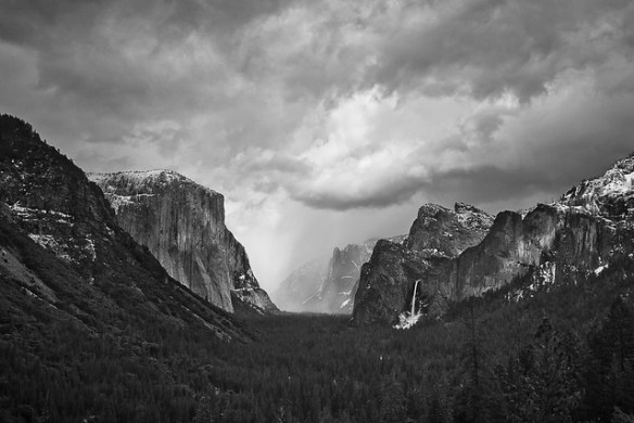 Spring Storm Arriving in Yosemite Valley