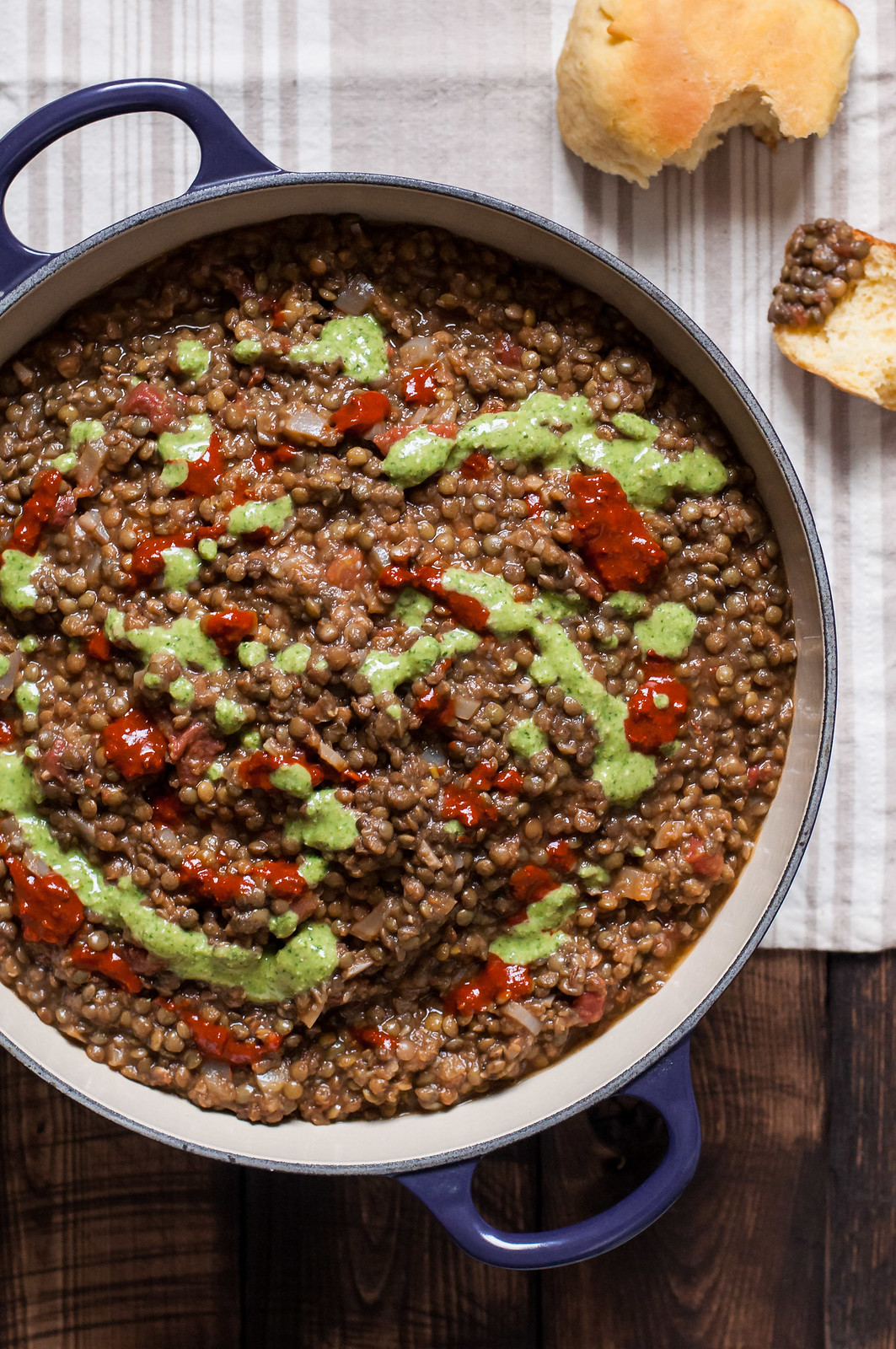 One hour spiced eggplant lentil stew | vegetarian and gluten free