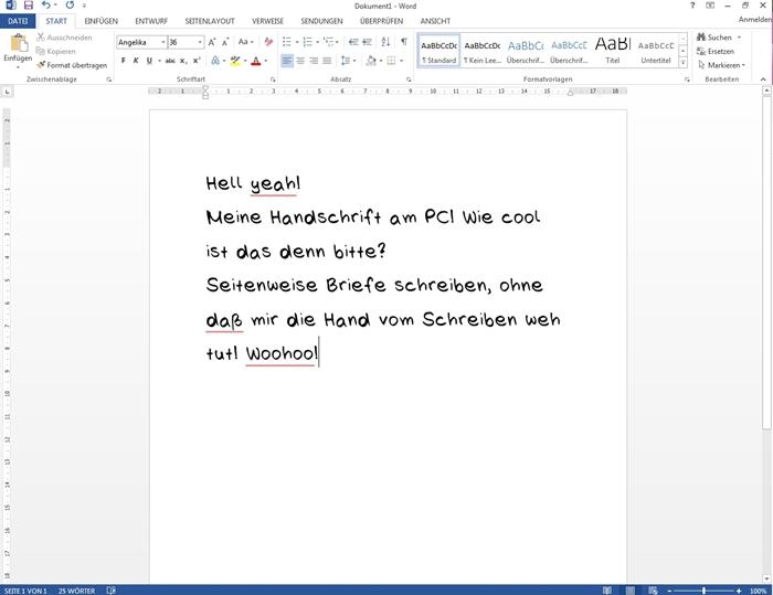 {DIY} eigene Handschrift als Font 06