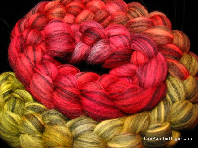 Yellow to Scarlet Merino Silk