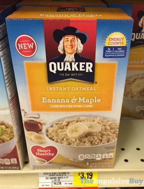 Quaker Banana & Maple Instant Oatmeal