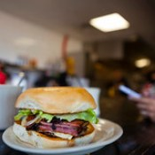 0917 Pastrami burger at Dix Coney Island
