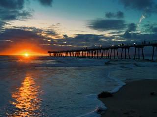 Hermosa beach sunset today.