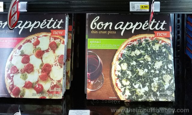Bon Appetit Spinaci and Mozzarella & Pesto Thin Crust Pizza