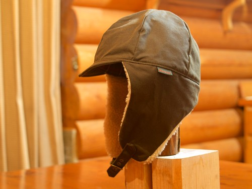 Barbour Waxed Cotton Flying Cap (Sample)