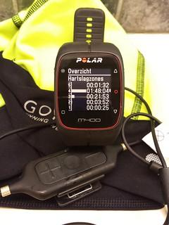 Handig overzicht van je hartslagzones op de Polar M400