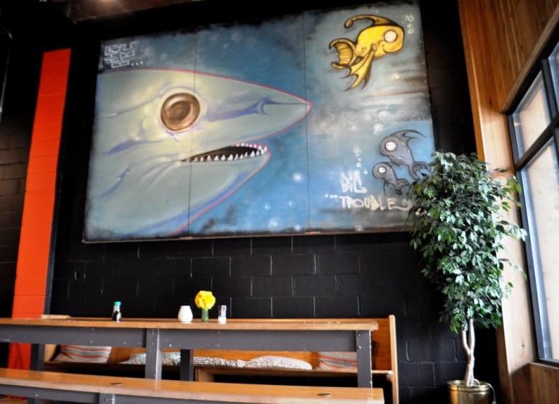 Art in the Penn Avenue Fish Market, Pittsburgh, Pa., Feb. 11, 2015