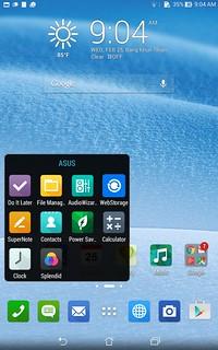 พวก App ต่างๆ ที่ ASUS ทำมาให้สำหรับ ASUS fonepad 8