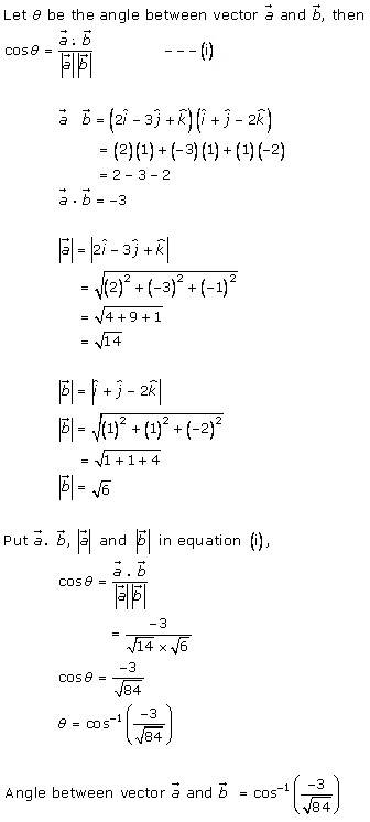 RD Sharma Class 12 Solutions Chapter 24 Scalar or Dot Product Ex 24.1 Q5-iv