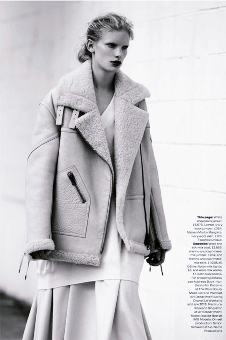 aviator jacket fashion editorial