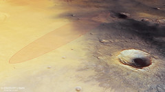 Perspective view in Meridiani Planum with Schiaparelli landing ellipse
