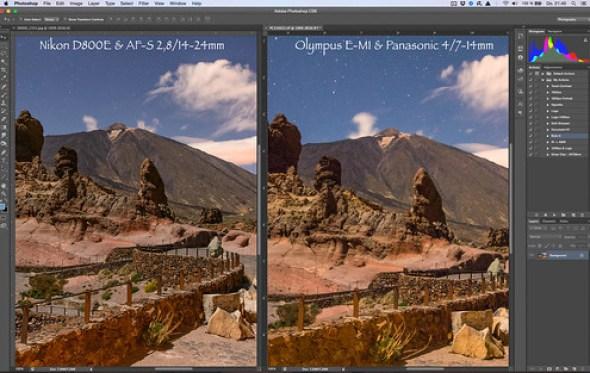Nikon D800E & AF-S 2,8/14-24mm versus Olympus OM-D E-M1 & Panasonic 4/7-14mm