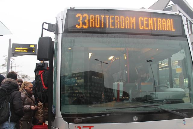 Autobús 33 para llegar el centro de Róterdam