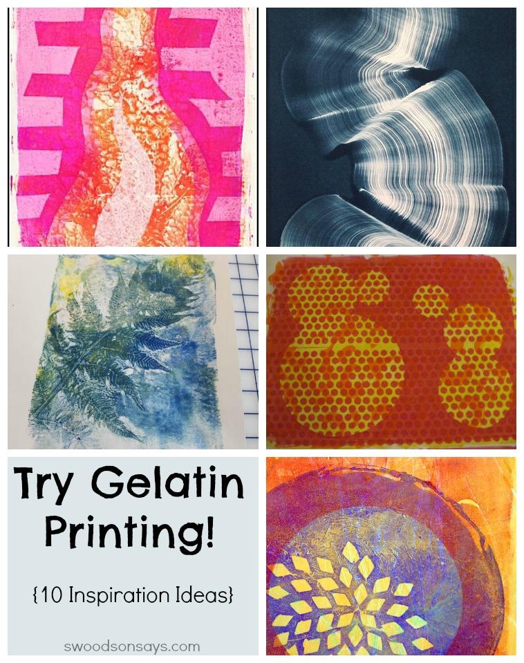 Gelatin Printing Tutorials and Inspiration