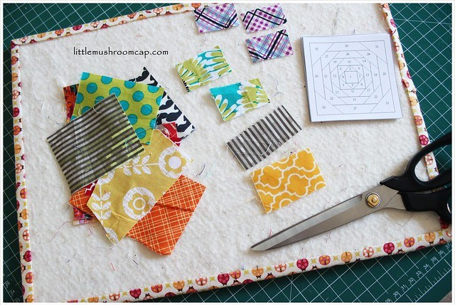 Prepping for sewing pineapple paper-pieced blocks