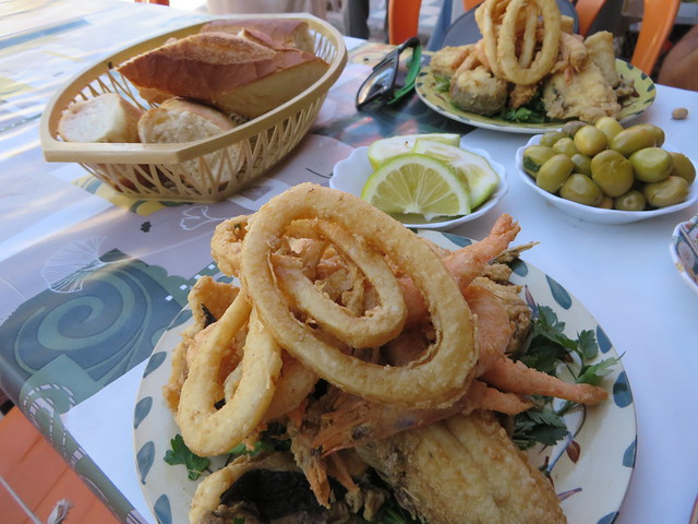 Restaurant at the port in Agadir, things to do in Agadir