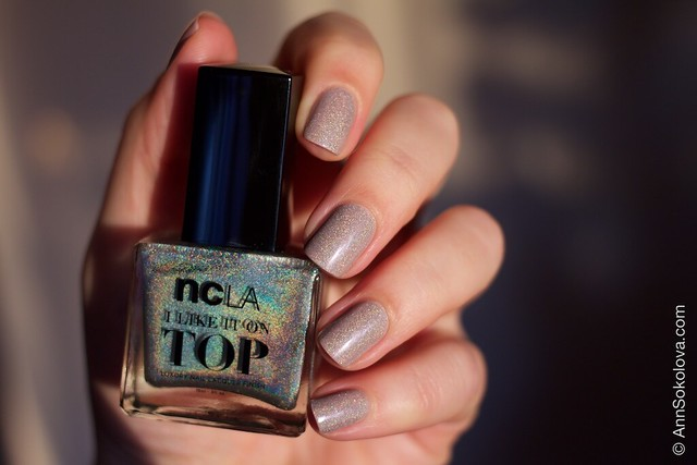 09 NCLA   I Like It On Top   Shimmer Me Pretty + Morgan Taylor   Magician's Assistant sunlight