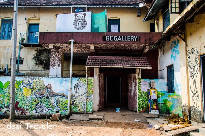 B C Gallery in Fort Kochi with some street art