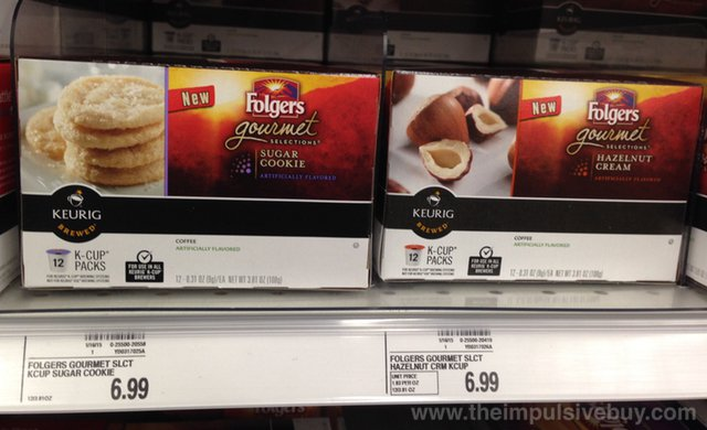 Folgers Gourmet Selections K-Cups (Sugar Cookie and Hazelnut Cream)