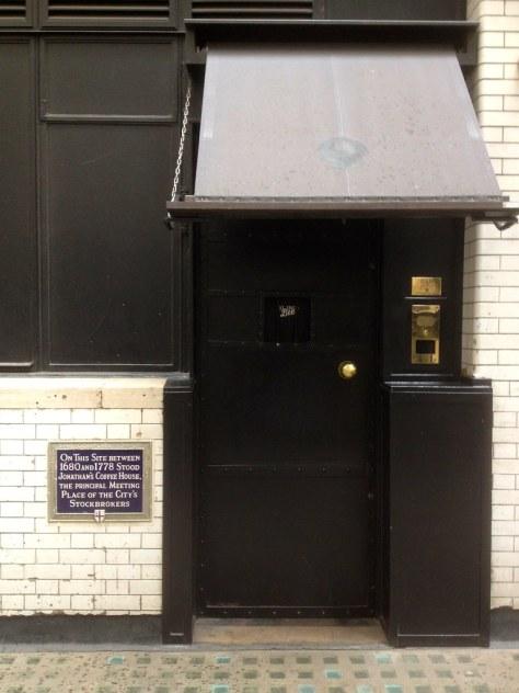 Change Alley - Jonathan's Coffee House