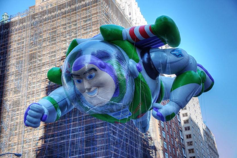 Buzz Lightyear balloon.