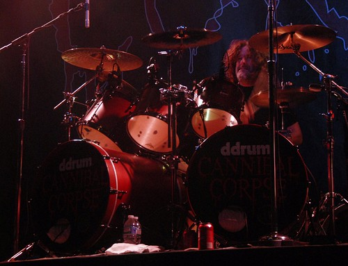 Paul Mazurkiewicz of Cannibal Corpse at the Fillmore Silver Spring