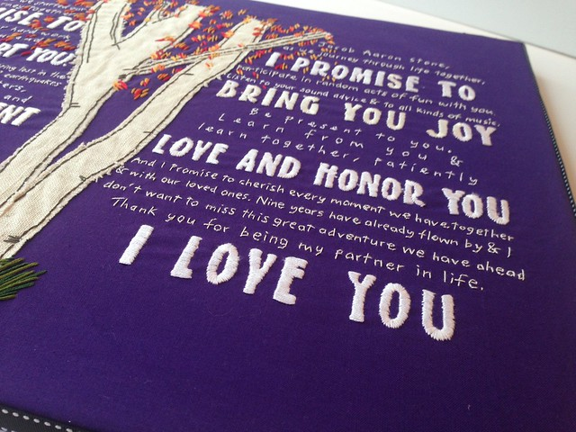 Custom his/hers wedding vows 2014