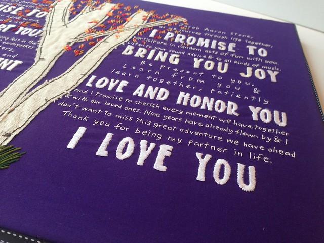 Custom his/hers wedding vows 2014