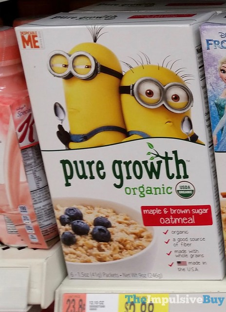 Pure Growth Organic Maple & Brown Sugar Oatmeal