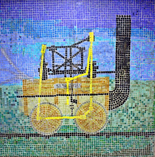 Stephenson's Rocket - Jesmond's Subway Mosaics