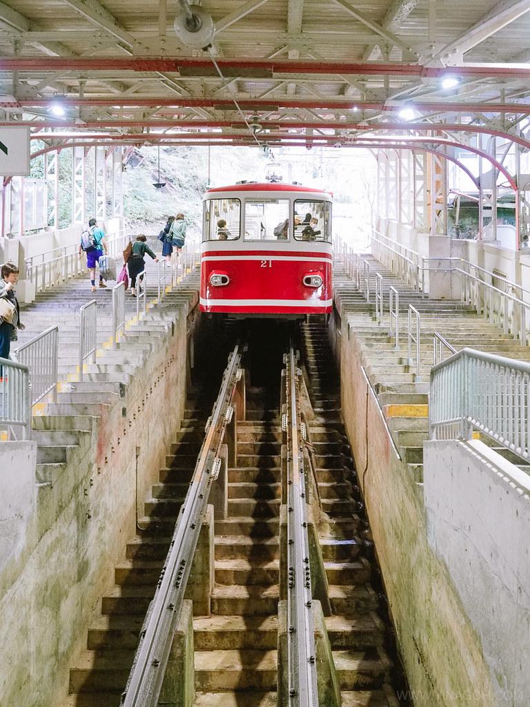 Koyasan Gokurakubashi Station Cable Car