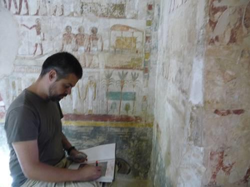 Equipo mexicano lleva un avance de 60% en la restauración de tumba egipcia