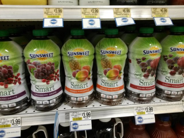 Sunsweet Smart Juice (Cranberry Grape, Mango Pineapple, and Cherry Pomegranate)
