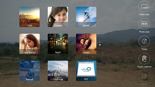 เลือกโหมดถ่ายภาพของ Vivo X5