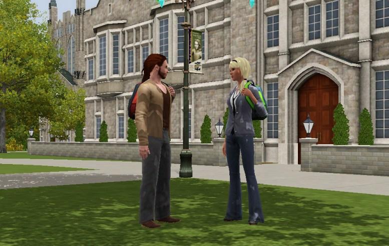 Groupe social Les Sims 3 University