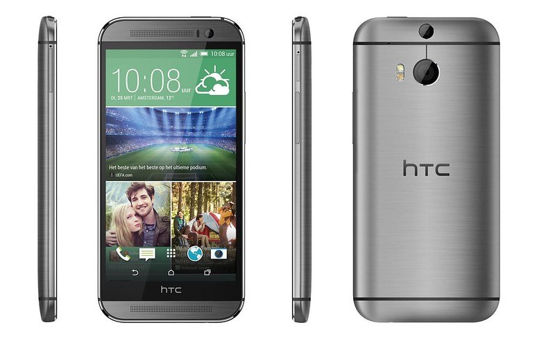 HTC One M8 lados