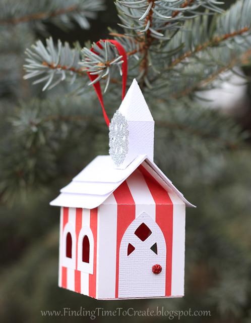 House Ornaments - white trim