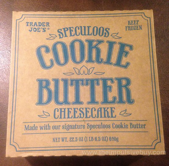 Trader Joe's Speculoos Cookie Butter Cheesecake