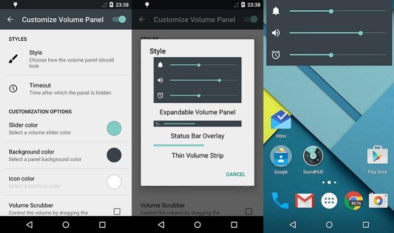 SoundHUD Android aplicaciones