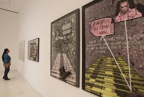 Aspecto de las obras montada en el recinto ubicado en el Bosque de Chapultepec, ocupa cinco salas Foto Yazmín Ortega Cortés