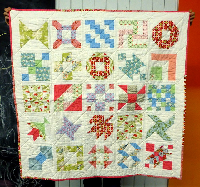 Bee Blessed Farmer's Wife baby quilt