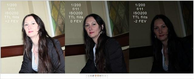 Het effect van flitslicht compensatie bij TTL flitsen